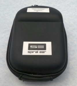 Spiral Ear SE 5-way Reference custom in-ear monitors carrying case