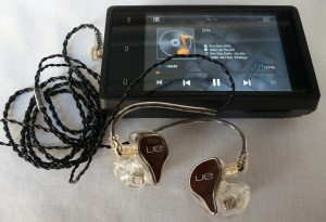 Logitech Ultimate Ears Personal Reference Monitor custom in-ear monitors with iBasso DX100