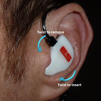 custom in-ear monitor insert & remove