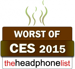 The Headphone List Worst of CES 2015 award badge.fw